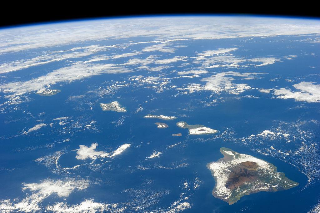 Hawaii vazuta de sus. Foto NASA. Sursa Wikipedia.