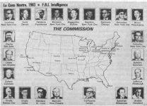 Harta Comisiei Cosa Nostra realizata de FBI. Sursa Wikipedia.