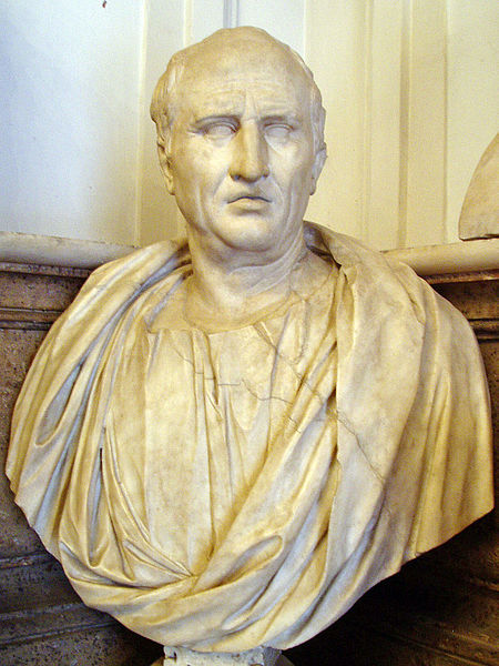 Bustul lui Cicero, Museul Capitolini, Roma, sursa Wikipedia.
