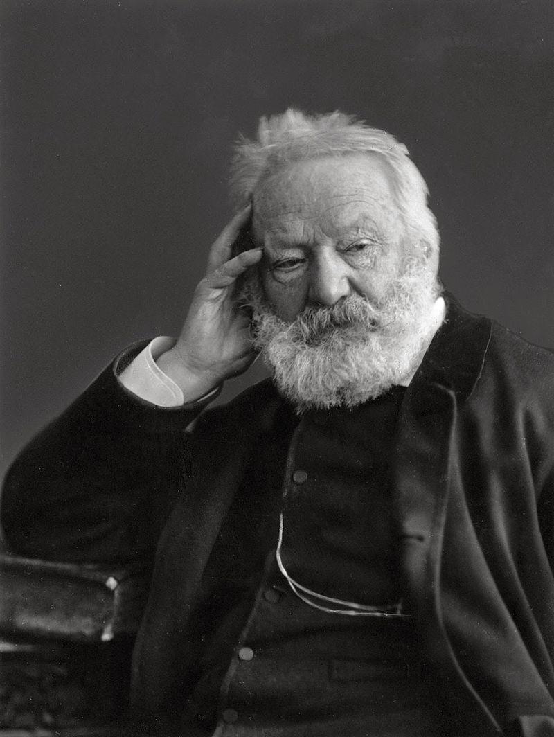 Victor Hugo fotografiat de Nadar în 1884. sursă Wikipedia.