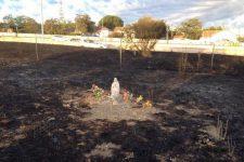 statuie Fecioara incendiu